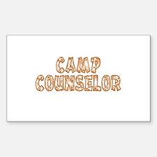 Camp Counselor Rectangle Decal