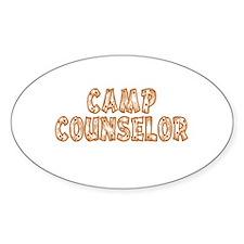 Camp Counselor Oval Sticker (50 pk)