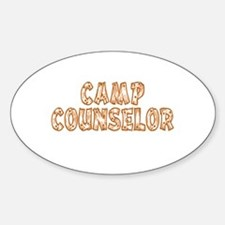 Camp Counselor Oval Sticker (50 pk)