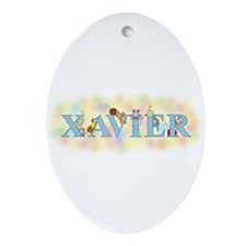 """""""Xavier"""" with Mice Oval Ornament"""