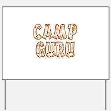 Camp Guru Yard Sign