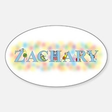 """""""Zachary"""" with Mice Oval Decal"""