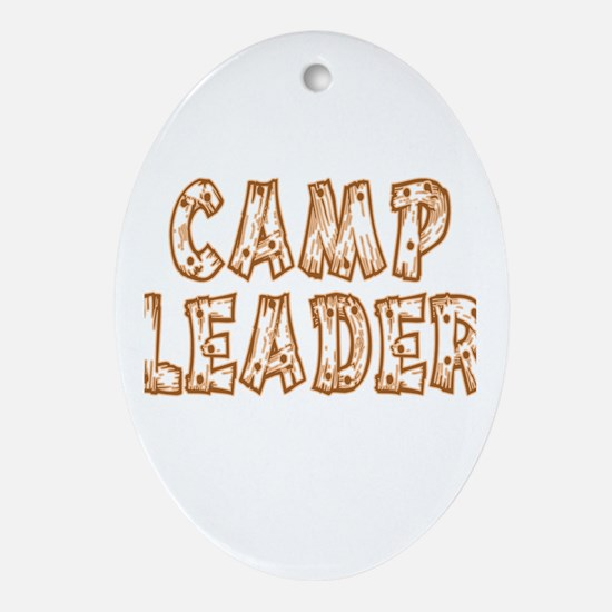 Camp Leader Oval Ornament