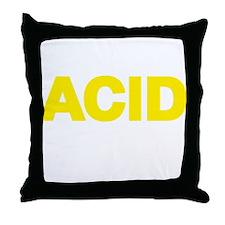 ACID YELLOW Throw Pillow