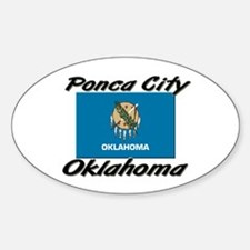 Ponca City Oklahoma Oval Decal