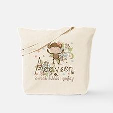 Addyson Sweet little Monkey Tote Bag