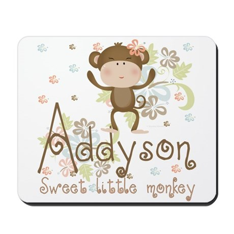 Addyson Sweet little Monkey Mousepad