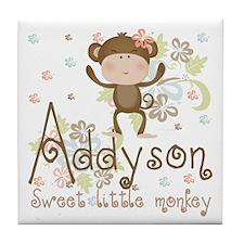 Addyson Sweet little Monkey Tile Coaster