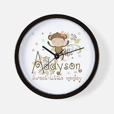 Addyson Sweet little Monkey Wall Clock