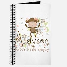 Addyson Sweet little Monkey Journal
