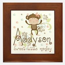 Addyson Sweet little Monkey Framed Tile