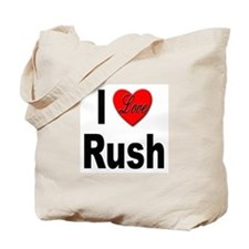 I Love Rush Tote Bag