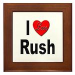 I Love Rush Framed Tile