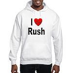 I Love Rush (Front) Hooded Sweatshirt