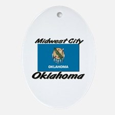 Midwest City Oklahoma Oval Ornament