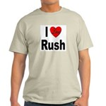 I Love Rush Ash Grey T-Shirt