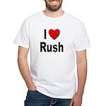 I Love Rush (Front) White T-Shirt