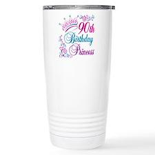 90th Birthday Princess Travel Mug