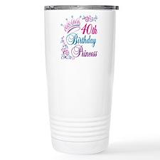 40th Birthday Princess Travel Mug