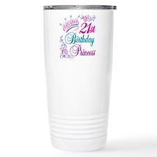21st Birthday Princess Travel Coffee Mug