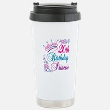 20th Birthday Princess Travel Mug