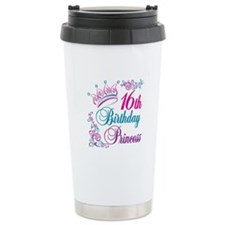 16th Birthday Princess Travel Coffee Mug