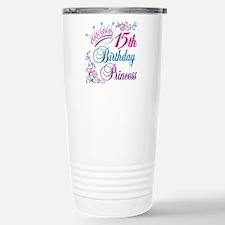 15th Birthday Princess Stainless Steel Travel Mug
