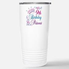9th Birthday Princess Travel Mug