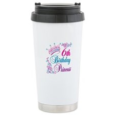 6th Birthday Princess Travel Mug