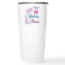 4th Birthday Princess Travel Mug