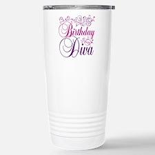 Birthday Diva Stainless Steel Travel Mug