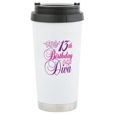 13th Birthday Diva Travel Mug