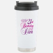 21st Birthday Diva Travel Mug