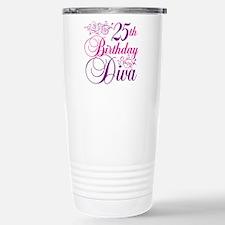 25th Birthday Diva Travel Mug