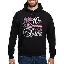 40th Birthday Diva Hoodie
