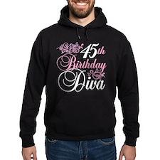 45th Birthday Diva Hoodie