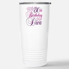 80th Birthday Diva Travel Mug