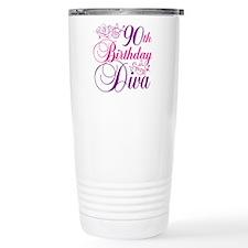 90th Birthday Diva Travel Mug