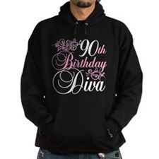 90th Birthday Diva Hoodie