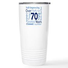 Over 70 years, 70th Birthday Travel Mug