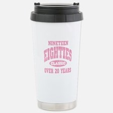 1980's Classic Pink Stainless Steel Travel Mug