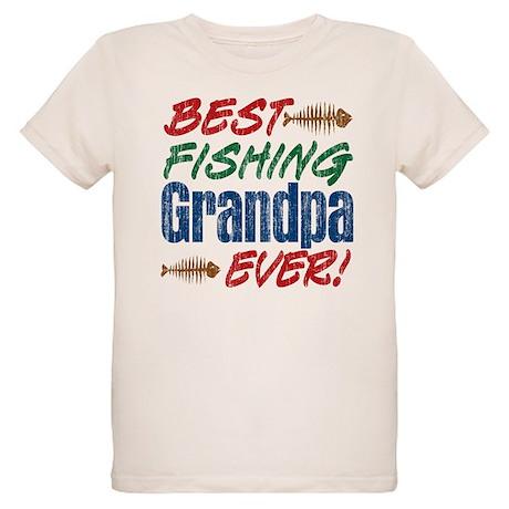 Best fishing grandpa ever organic kids t shirt best for Best fishing shirts