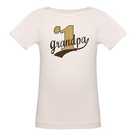 #1 Grandpa Organic Baby T-Shirt