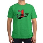 #1 Grandpa Men's Fitted T-Shirt (dark)