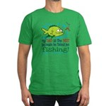 My Dad Takes Me Fishing Men's Fitted T-Shirt (dark