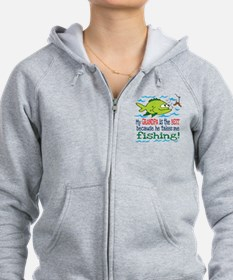 My Dad Takes Me Fishing Zip Hoodie