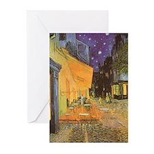 Van Gogh Cafe Terrace at Night Greeting Cards (Pk