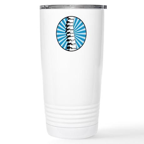 Blue Burst Spine Stainless Steel Travel Mug