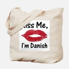 Kiss Me, I'm Danish Tote Bag
