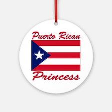 Puerto rican pride Ornament (Round)